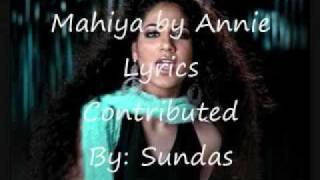 Mahiya Song with Lyrics