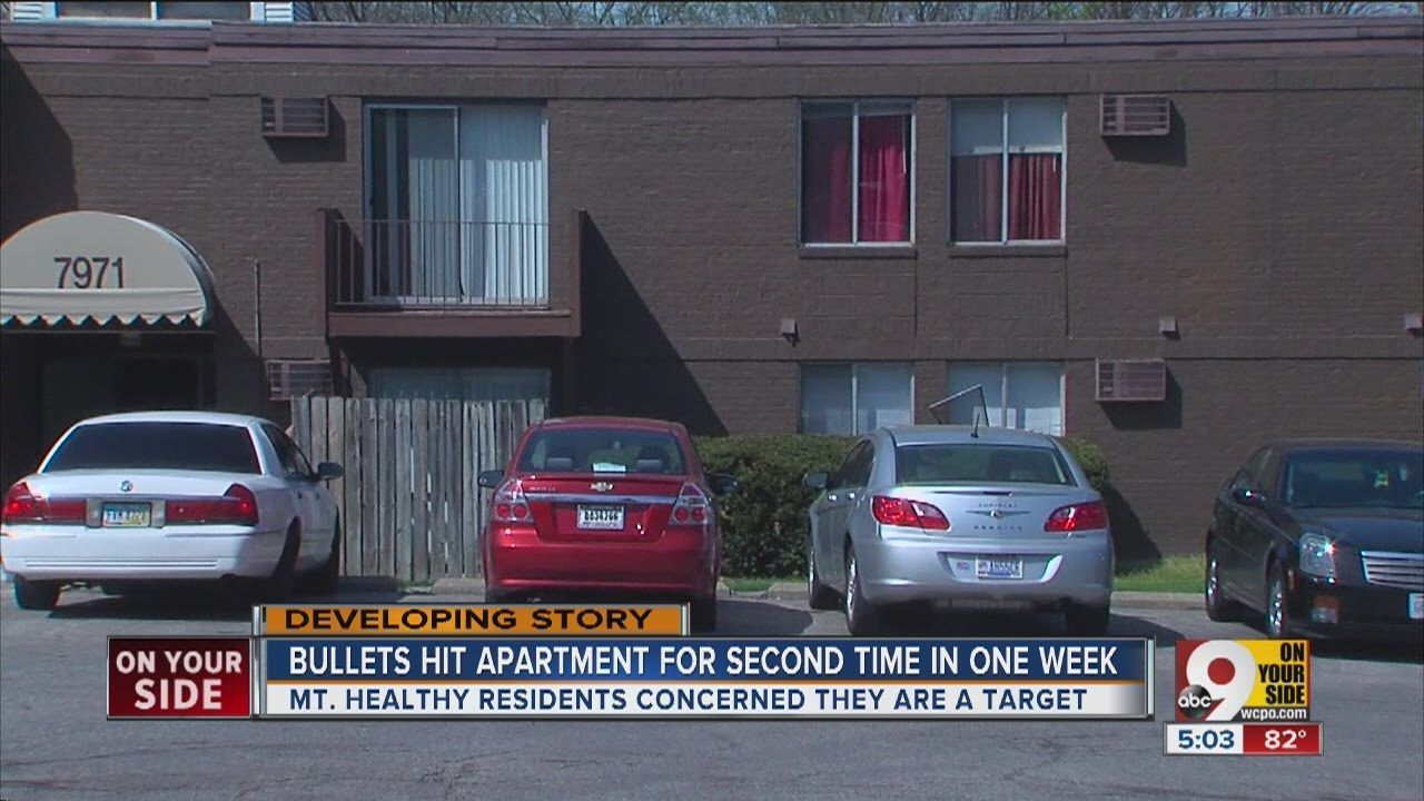 bullets hit mt airy apartments for the second time in a week  - bullets hit mt airy apartments for the second time in a week