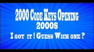 $2000 worth of code keys! GUESS WHICH 1ING ITEM I JUST GOT!?!? Dreamscape rsps