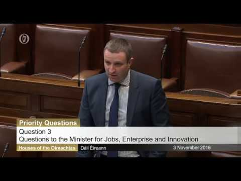 Niall Collins TD questions Mary Mitchell O'Connor