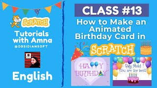 Coding for Beginners - Class 13 | How to Make an Animated Birthday Card in Scratch (English) screenshot 3