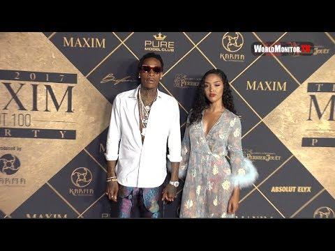 Wiz Khalifa, Izabela Guedes arrive at 2017 MAXIM Hot 100 Party