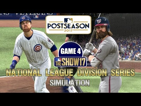 MLB The Show 17 | National League Division Series Cubs vs Nationals Game 4 Sim