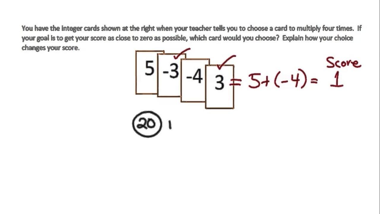 Understanding Multiplication of Integers (examples [ 720 x 1280 Pixel ]
