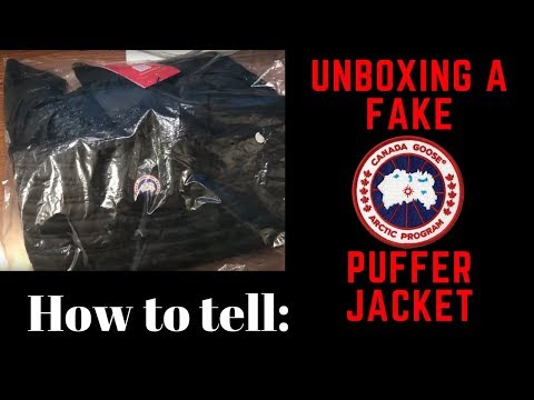 Unboxing A Fake Canada Goose Puffer Jacket--How To Spot A Fake