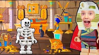 Мир из LEGO | Древнеегипетский храм из Лего | Зона Земля приключений | Детское видео