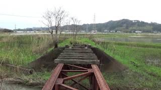宮崎県にある【妻線】廃線跡の旧〔佐賀利橋梁〕辺りをチョットだけ歩いてみました
