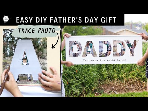 Fun and Easy Father's Day DIY gift idea using photos! A perfect gift for your DAD!