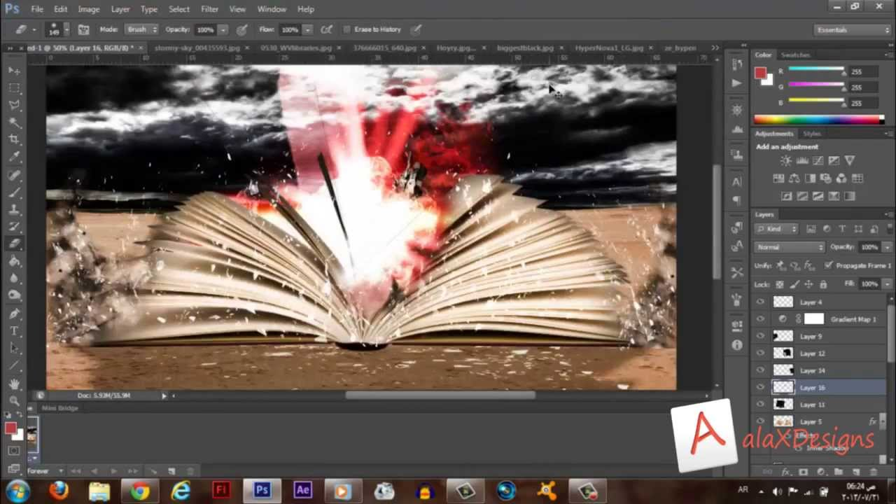 how to open video in photoshop cs6