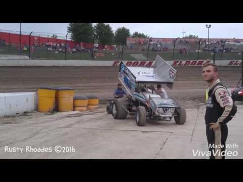 Eldora Speedway World of Outlaw Sprint Cars Sights and Sounds 9/23/16