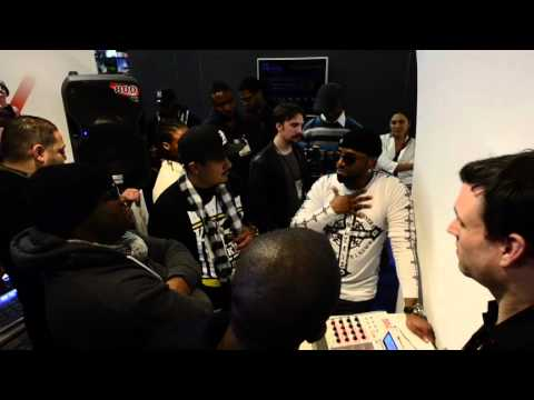 Teddy Riley at the Akai Pro MPC Booth at NAMM 2012