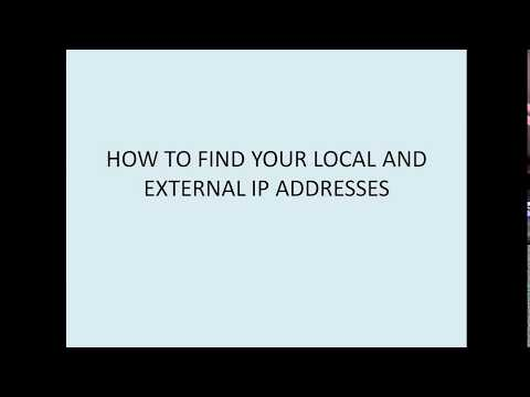Quickly find your local and external IP addresses
