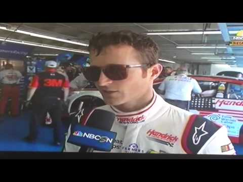 Kasey Kahne CMS post wreck interview