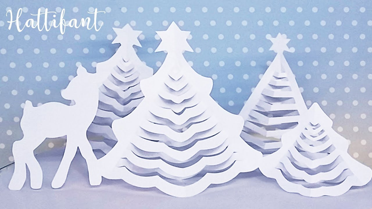 Hattifant 3d Christmas Tree The Original 3d Paper Christmas