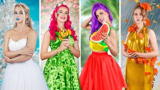 Девушка осень, девушка зима, девушка весна и девушка лето! Четыре сезона!