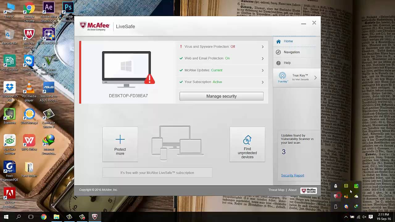 How To Disable Enable Mcafee Antivirus On Windows 10 How To Turn Off Mcafee Antivirous Youtube