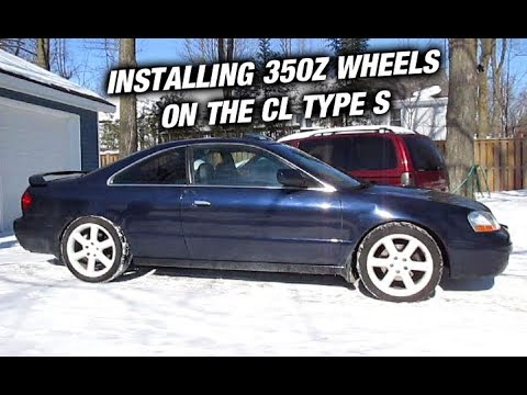 Putting 350Z Wheels On The Acura Cl Type S