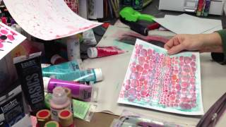 1st attempt at video - Gelli Plate Love - Patti Tolley Parrish - Inky Obsessions