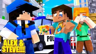 Minecraft LIFE OF ALEX & STEVE - ALEX & STEVE SEARCH FOR THEIR MISSING TWIN BABIES!!!