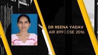 UPSC CSE I Motivation for 4th attempt   By Dr Reena Yadav AIR 899