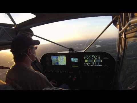 Flight #30 Landing at Dusk at Hartford Brainard Airport