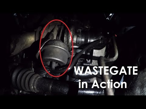 VW Golf 4 1.9 TDI - Wastgate & Turbo in Action   Gopro