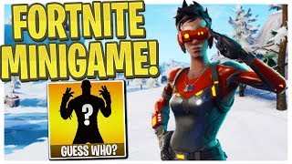 Guess My Fortnite Skin! - Fortnite Guess Who Minigame Vs. Ali-A