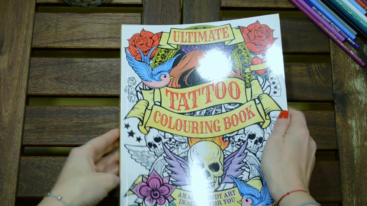 Ultimate Tattoo Colouring Book Flip Through Youtube