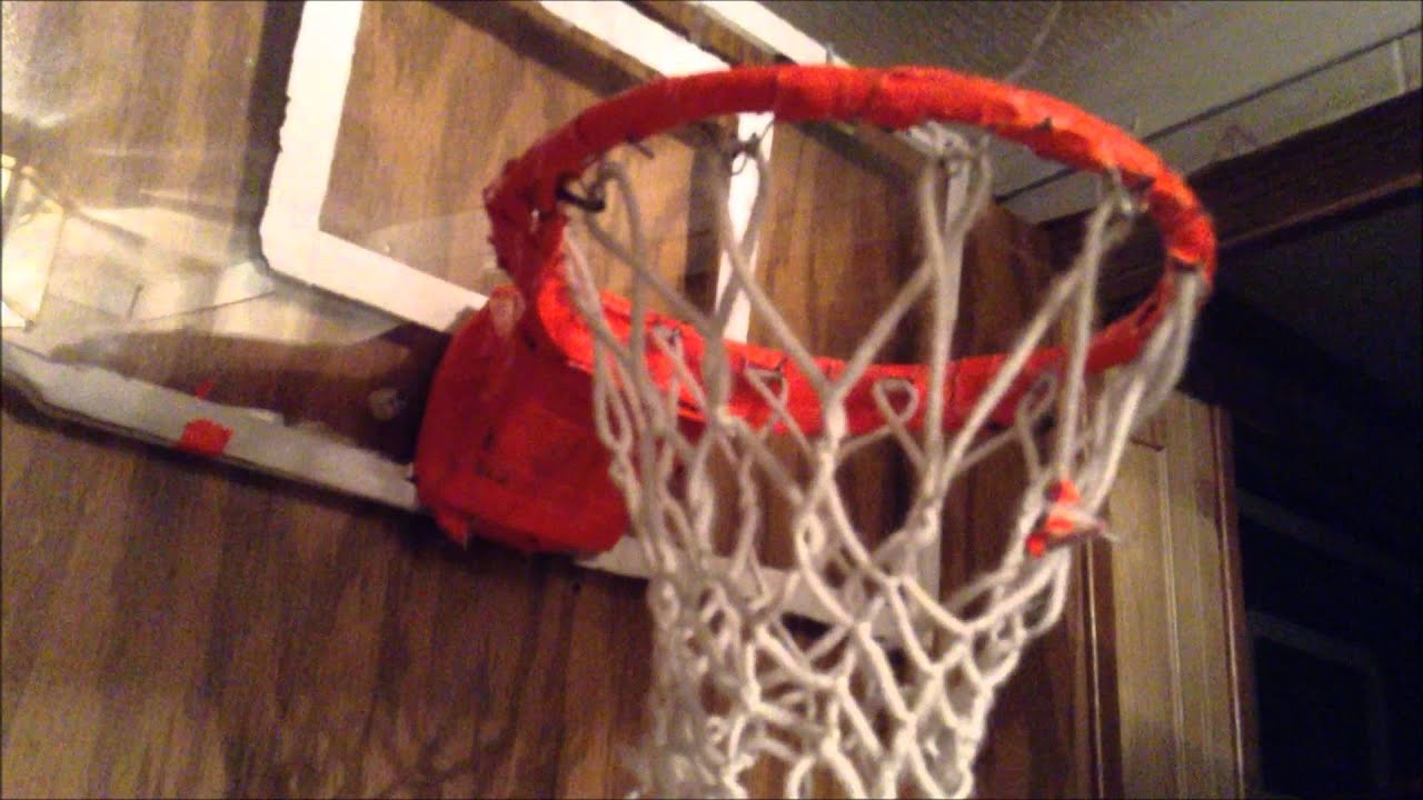 Homemade basketball hoop one of the best ones made youtube for Homemade basketball court