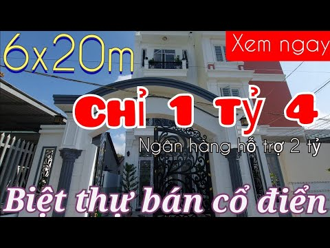 Bán nhà Bình Chánh - Biệt thự Bình Chánh bán cổ điển 6x20m ngay măt tiền Hương Lộ 11
