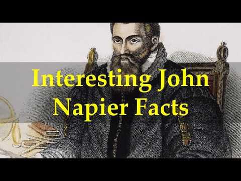 Interesting John Napier Facts