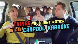 Download lagu Things you didn't notice in BTS Carpool Karaoke & Funny Moments