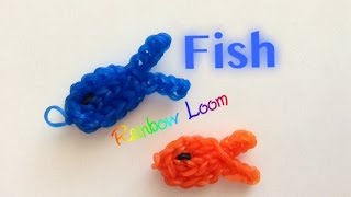 EASY Rainbow Loom Fish Charms
