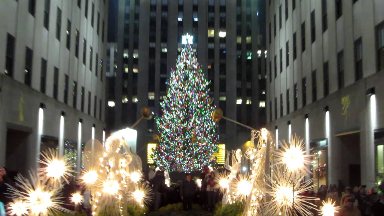 Happy Holidays From The Rockefeller Center Christmas Tree Lighting In New York City Usa