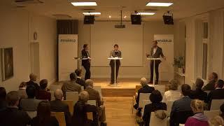 Diskussion med Ulf Kristersson och Wong Yik Mo om utvecklingen i Hongkong