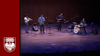 Alto saxophonist and composer Steve Coleman and members of the Five...