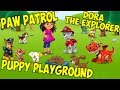 Dora the explorer.  Puppy playground. Paw Patrol Academy.Games from popular cartoons.