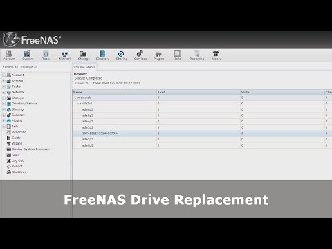 FreeNAS Drive Replacement - YouTube