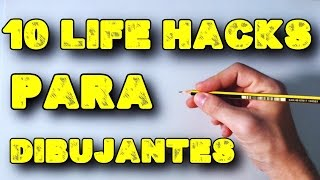 10 Life Hacks para Dibujantes Principiantes | (English Subtitles CC)  10 Life Hacks For Cartoonists