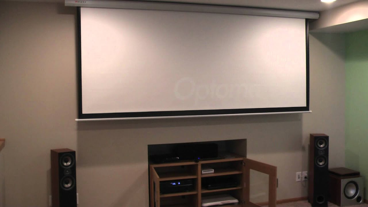 Home Theater Demo Of My Basement Home Theater Youtube