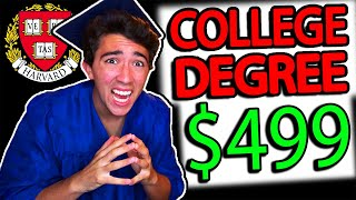 I Bought A FAKE College Degree that ACTUALLY Works...