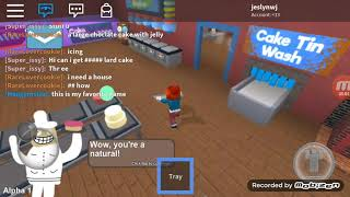 Sister Ruslan Wang make a cake in ROBLOX
