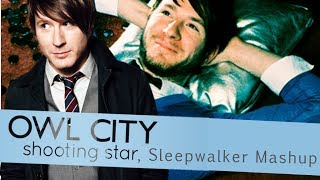 Owl City Sleepwalker and Shooting Star, remix (Sleeping Stars) lyrics on screen