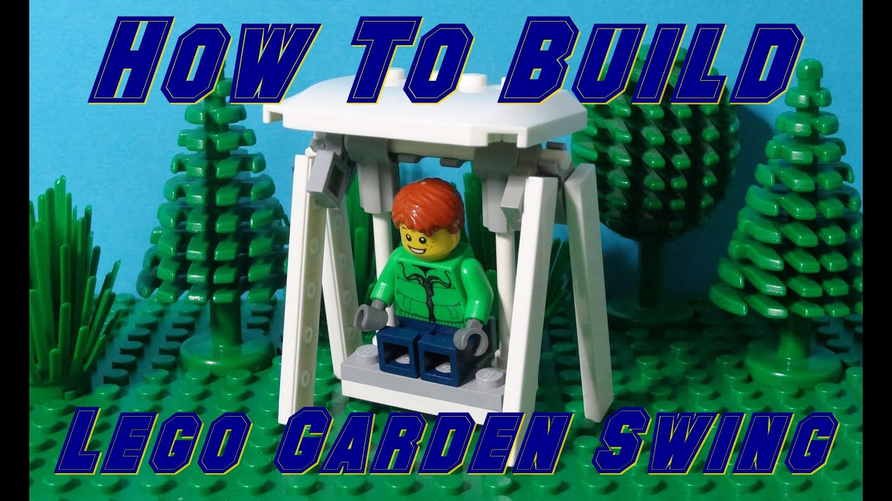 How To Build A Lego Garden Swing Chair YouTube