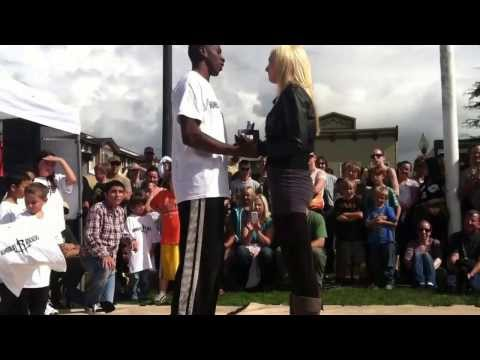 Hakim Wyllie Dance Proposal to Ashley Cossey Arcata Plaza North Country Fair 2013
