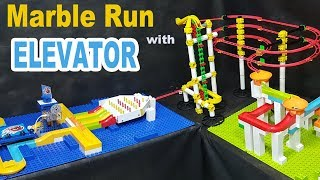 MARBLE RUN with AUTOMATIC ELEVATOR - Mini Tournament - Marble Games
