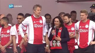 De Ligt en Van der Sar vangen bier voor Femke Halsema