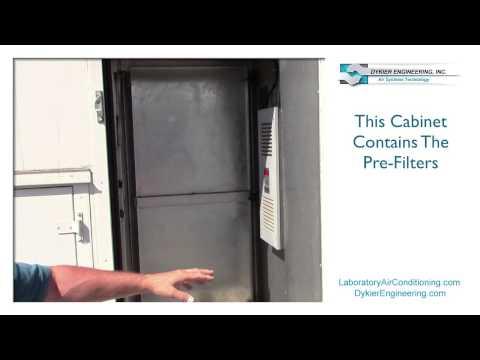 Single Pass, Energy Saving Laboratory Air Conditioning Machine