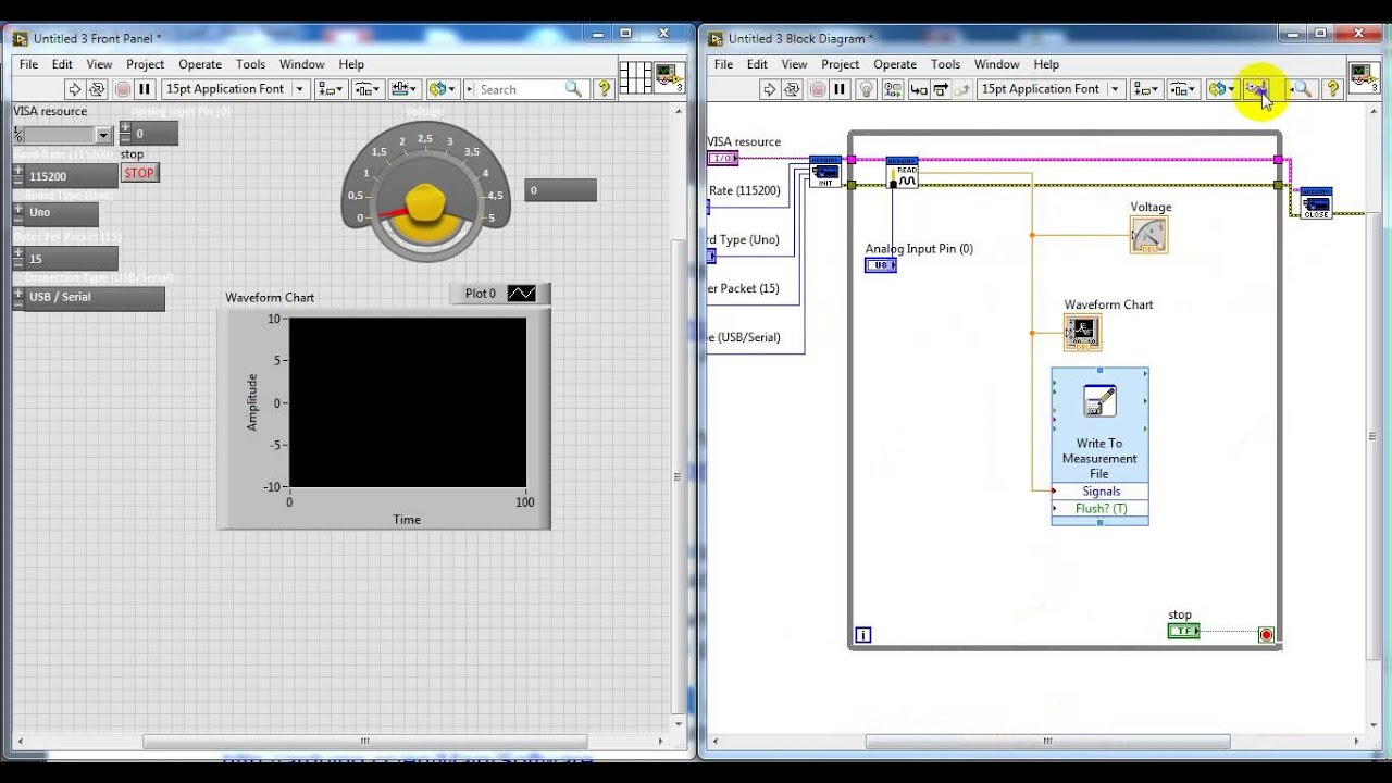 Arduino data acquisition sensor with labview youtube