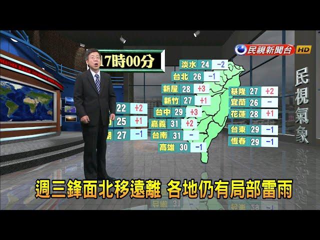 2019/6/25 週三鋒面遠離 各地仍有局部雷雨-民視新聞